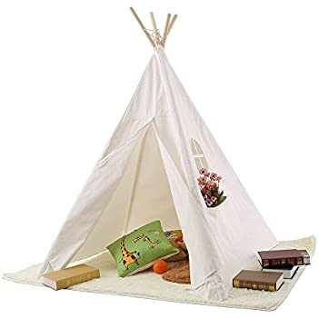 Pericross® Children Teepee Kids Play Tent 145cm Indian Tent for Kid Indoor Play Ground Play House Tents Kid Outdoor Garden Tent White  sc 1 st  Amazon UK & Childrens Garden Play Wigwam: Amazon.co.uk: Toys u0026 Games