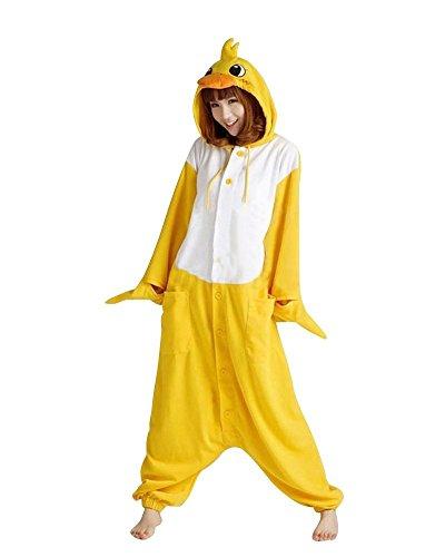Mytom Kigurumi Pijamas Unisexo Adulto Traje Cosplay Homewear Halloween Animal Pyjama (Pato EU XL)