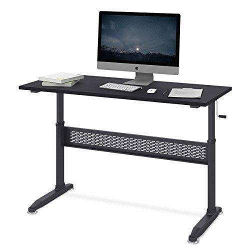 DEVAISE Höhenverstellbare Schreibtische/Computertische/Stehpult mit Seite Kurbel; 140cm Breit,...