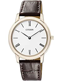 Citizen Damen-Armbanduhr Analog Quarz Leder EG6003-17A