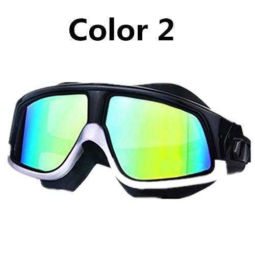 ZKAMUYLC SonnenbrilleSchwimmbrilleSilikon Rahmen Myopie Schwimmen Brille Anti-Fog UV Männer Frauen Dioptrien Schwimmen Brillen Maske WasserdichteWelle -1.5 ~ -8.0