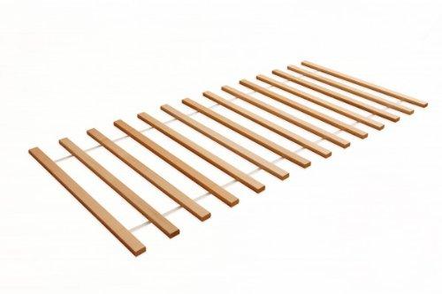 Linilou Rollrost Lattenrost 90x200 cm aus massiver Buche 16 Latten