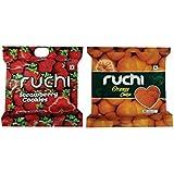 Ruchi Cookies Combo, Orange & Strawberry Cookies, 400g (Pack of 2)