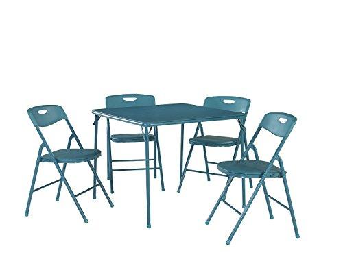 Cosco Produkte Shipping 5-teilig Tisch und Stuhl-Set zusammenklappbar industriell 1 blaugrün