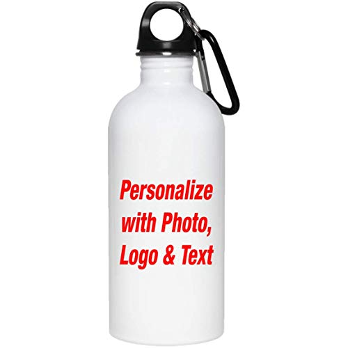Regalo Personalizzato Aggiungi Foto Testo Logo - Personalized Gift ADD Your Photo Text - Borraccia Acciaio Inossidabile Termico - Regalo per Compleanno Anniversario Festa della Mamma del papà Pasqua