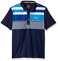 Puma Golf 2017 Boy 'S Road Map Asym Polo, Peacoat, X-large