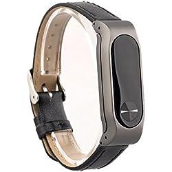 VAN-LUCKY Xiaomi Mi Band 2 Wristband mšŠtalliques Bandes de bracelet en cuir pour XIAOMI MI BAND 2 Bracelet de remplacement Smart Mi Band