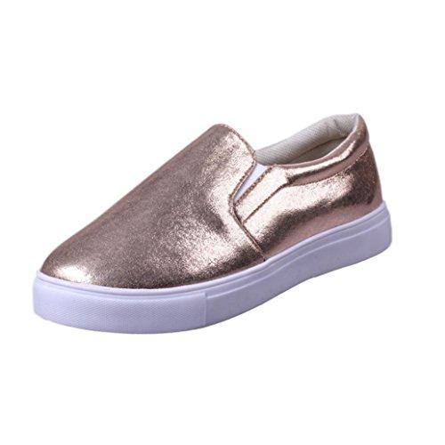Webla Frühling Frauen Loafers Mode Casual Flats Schuhe Slipony Lazy Sportschuhe Gold