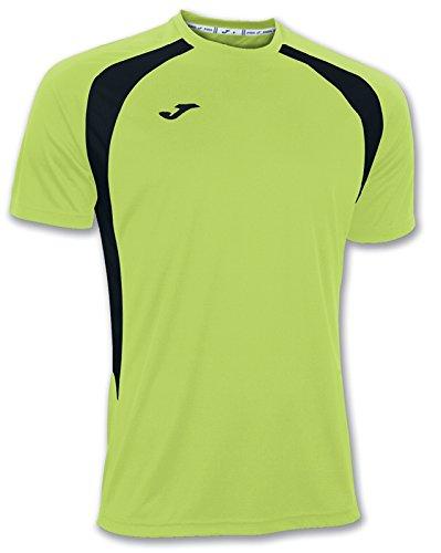 Joma - Camisetas champion iii verde fluor-negro m/c para hombre
