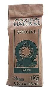 Argila Natural Em Pó - Französische Grüne Tonerde - Pulver für Masken und Peelings - 100 % natürlich - 1 kg
