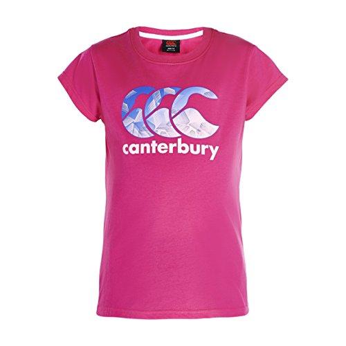 Canterbury Maglietta con logo da ragazza, ragazza,
