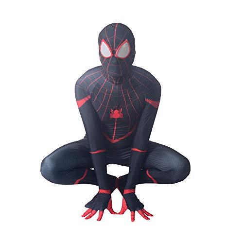 KOUYNHK Erwachsene Kinder Herren Halloween Schwarz Spiderman Cosplay Kostüme Venom Spider Shiny Metallic Zentai Superhero - Venom Kostüm Für Erwachsene