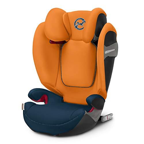 Cybex Gold Kinder-Autositz Solution S-Fix, Gruppe 2/3 (15-36 kg), ab ca. 3 bis ca. 12 Jahre, tropical blue, für Autos mit und ohne Isofix