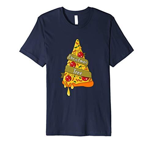 Pizza Baum Ugly Weihnachten T-Shirts OUTFIT für Damen Herren Kinder