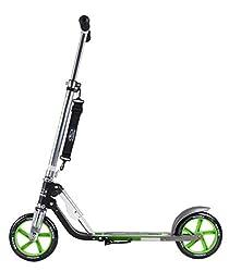 HUDORA 14695 BigWheel 205-Das Original mit RX Pro Technologie-Tret-Roller klappbar-City-Scooter, schwarz/grün
