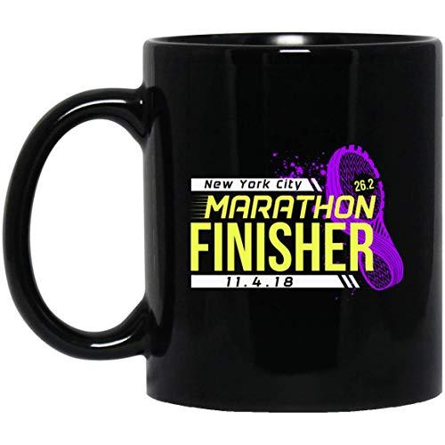 NYC New York City Finisher Marathon 2018 11 oz. Black Mug (Sweatshirt Times York New)