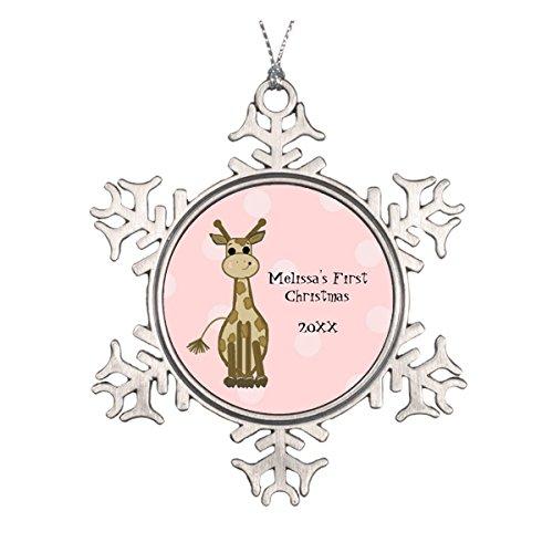 Giraffe Baby First Christmas Keramik rund Weihnachten Ornament
