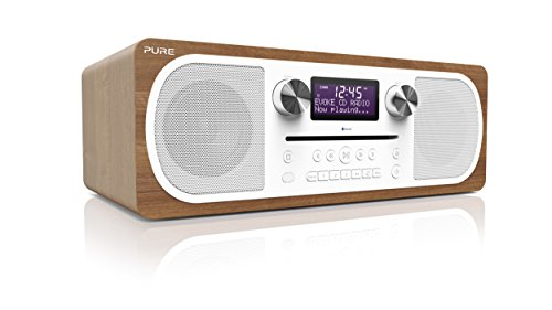 Pure Evoke C-D6 Stereo-All-in-One-Musikanlage (CD, DAB+ Digital-, UKW-Radio, Bluetooth inkl. Fernbedienung) walnuss