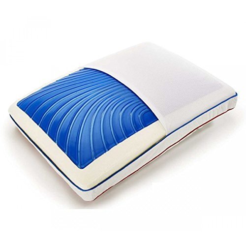ViscoSoft SEASONSENSE : Oreiller gel à mémoire de forme et réversible, alternatif duvet, tissu COOLMAX®