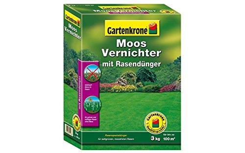 Moosvernichter mit Rasendünger 3 kg für bis zu 100 m²