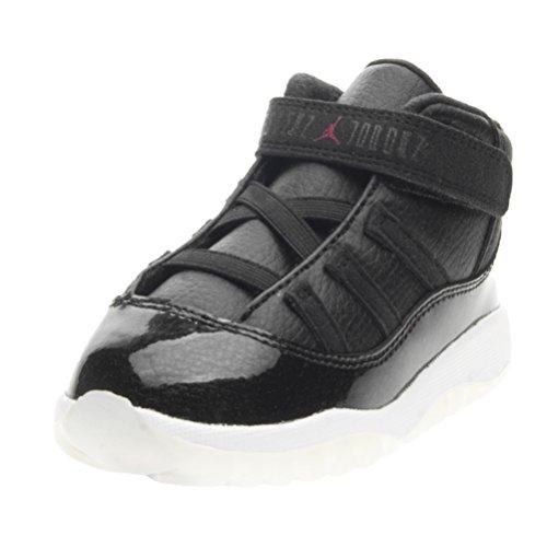 Nike Unisex Baby Jordan 11 Retro BT Sneakers, (Schwarz/Gym Rot-Weiß-Anthrazit), 25 EU
