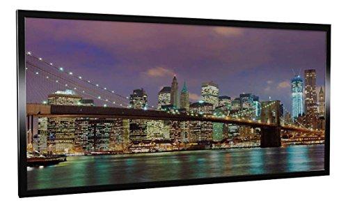 Infrarotheizung Glas mit Bild und Rahmen schwarz, 600 Watt, Motiv