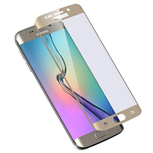 VSHOP ® Film Protection Ecran en Verre Trempe pour Samsung Galaxy S6 Edge PLUS - Ultra Resistant Vitre Ecran Protecteur 100% Incurve Integral Bord Or