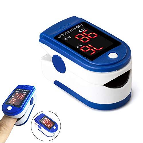 GFDDZ Fingerspitzen-Pulsoximeter-Blutsauerstoffsättigungsmonitor mit Batterien und Schlüsselband für ältere Outdoor-Begeisterte während der Schwangerschaft,Blue