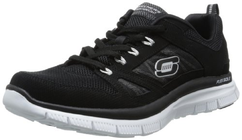 skechers-flex-advantage-mens-low-top-sneakers-black-white-9-uk-43-eu