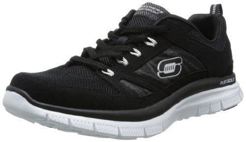 skechers-flex-advantage-zapatillas-de-deporte-hombre-negro-black-white-44-eu-95-uk