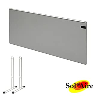 Adax Neo NEW 2018 MODEL Silver Modern 2000W Electric Panel Heater with Timer. Wall Mounted or Portable. Heats Up To 25m2 Room Space. ErP/LOT 20 Compliant. Flat Panel Convector Radiator