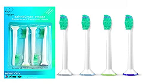 SoniShare New Replacement Toothbrush Heads for Philips Sonicare ProResults HX6013/HX6014,