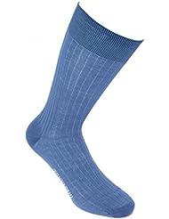 Tony & Paul - Chaussettes Pur Fil D'ecosse. Bleu Jeans. Tony & Paul