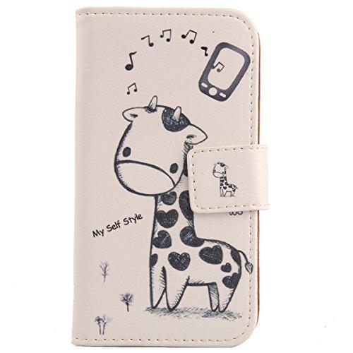 Lankashi PU Flip Leder Tasche Hülle Case Cover Schutz Handy Etui Skin Für Medion LIFE X5004 MD 99238 5
