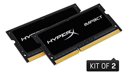 HyperX Impact HX316LS9IBK2/16 ram 16GB 1600MHz DDR3L CL9 SODIMM (Kit de 2) - Gb Ddr3-1600-notebook-ram 8