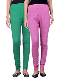 Belmarsh Warm Leggings - Pack of 2 (Green_Bpink)