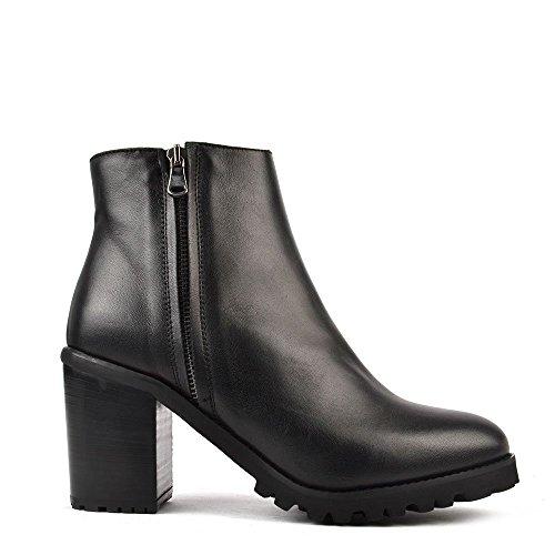 Elia B Urban Life Boots a Talon, Femme Noir