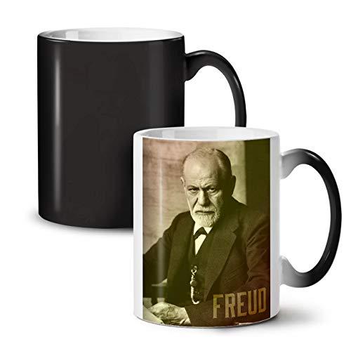 Wellcoda Berühmtheit Sigmund Freud Farbwechselbecher, Berühmt Tasse - Großer, Easy-Grip-Griff, Wärmeaktiviert, Ideal für Kaffee- und Teetrinker (Österreich Moderne Kostüm)