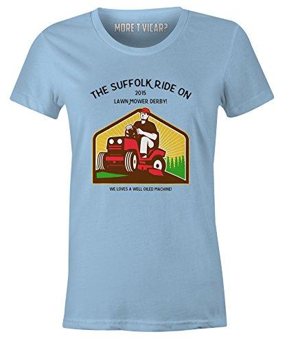 Die Suffolk Rasenmäher Derby Damen T-shirt Hellblau