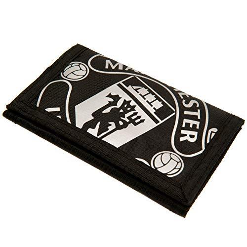 Manchester United Football Club Official Black Tri Fold Reach Wallet Crest Badge Team -