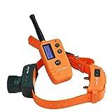 CHANG Antibell Halsband Hund,500M Fernhundehalsband Wasserdicht Für Die Jagd mit Piepser Hund Bellen Schockkragen mit Fernbedienung