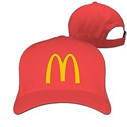 Unisex Mcdonalds Logo Adjustable Snapback Baseball Caps Navy One Size