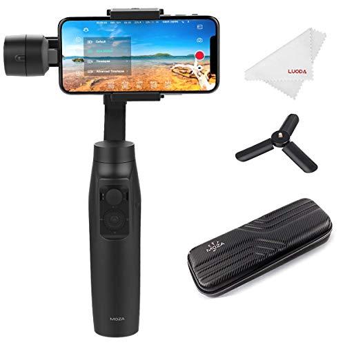 Moza Mini-Mi Estabilizador Gimbal de 3 Ejes para Teléfono Móvil Smartphone Gimbal Portátil para Móvil como iPhone, Samsung, Huawei y GoPro hasta 300g