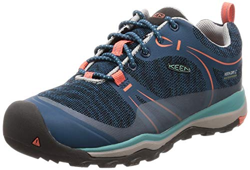 KEEN Terradora WP Shoes Children Aqua sea/Coral 2019 Schuhe, Aqua Sea/Coral-youth, US 1 | EU 32/33 (Keen 1 Mädchen Größe)