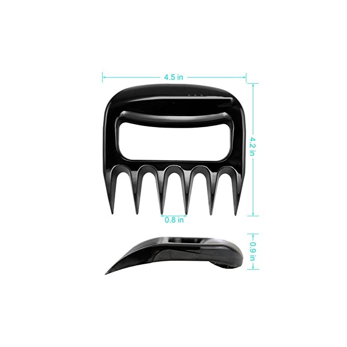 Faneli Hitzebestndige Fleisch Gabeln Zum Heben Handhabung Shredding Caving Essen Von Bbq Gill Smoker Slow Cooker Solid Meat Shredder Claws Schwarz 2er Set