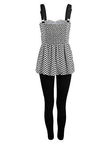 GSP-oxygene mousseline Monde® la bande d'onde des femmes imprimé combinaison maigre black-m