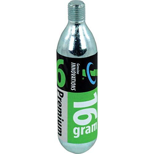 Genuine Innovation G2153 Kit di 6 Cartucce CO2, Argento, 16gr