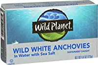 Wild Planet - White Anchovies in Water with Sea Salt 4.4 Oz. 180879