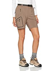 Izas Zalla Pantalones Cortos de Montaña, Mujer, Marrón Camel, L