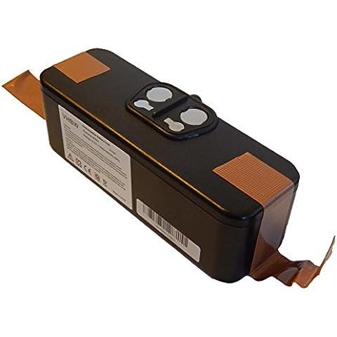 Batería Li-Ion 3000mAh (14.4V) vhbw para aspiradores robot iRobot Roomba 555, 560, 562, 563, 564 sustituye 11702, GD-Roomba-500, VAC-500NMH-33.